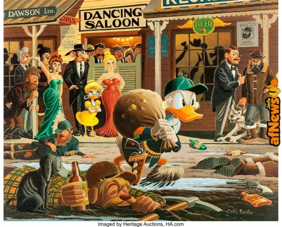Carl Barks Nobody's Spending Fool Signed Limited Edition Lithograph Print 234-350-afnews-afnews