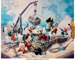 Carl Barks Return to Morgans Island Signed Limited Edition Lithograph Print 126-345-afnews