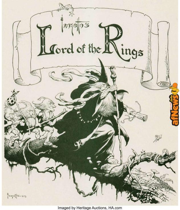 Frank Frazetta Lord of the Rings Signed Limited Edition Portfolio 147-1000-afnews-afnews