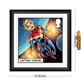 royal-mail-captain-marvel-framed-print-w-dimensions_1-afnews
