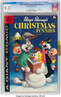Dell Giant Comics Bugs Bunny Christmas Funnies 169 File Copy (Dell, 1958)-afnews