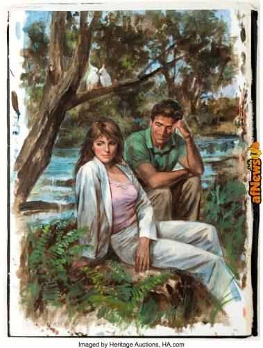 Fred Oakley Tomorrow's Lover Paperback Novel Cover Painting Original Art-afnews