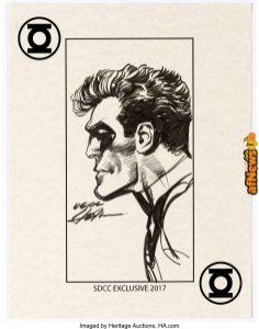 Neal Adams - Green Lantern SDCC Speciality Illustration Original Art 2017-afnews