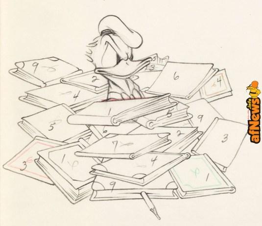 The Autograph Hound Donald Duck Animation Drawing (Walt Disney, 1939)-afnews