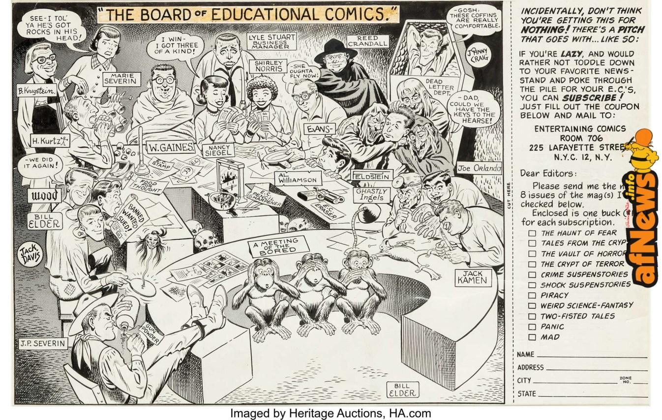 Bill Elder EC Comics Subscription Ad Illustration Original Art (EC, c. 1954)-afnews