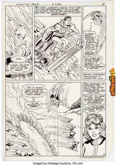 Curt Swan and Frank Chiaramonte Superman 12356 Story Page 5 Original Art (DC, 1981)-afnews
