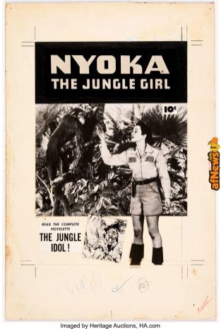 Nyoka the Jungle Girl 2764 Photostatic Cover (Fawcett Publ., 1952)-afnews