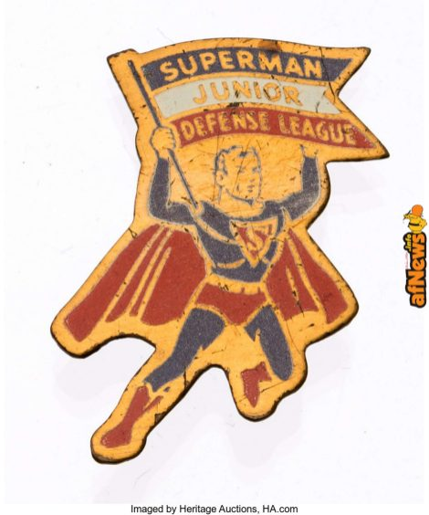 Superman Junior Defense League Bread Badge (DC, 1941)-afnews