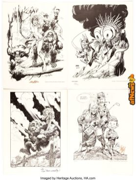 Will Eisner, Barry Windsor-Smith, and Others The Portfolio of Fine Comic Art 1-afnews