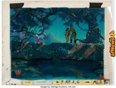 Fire and Ice Frank Frazetta and James Gurney Production Cel Setup with Key Master Background-afnews