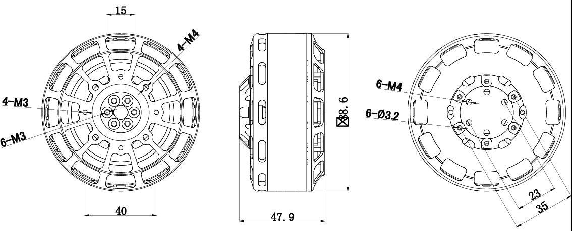 XOAR Titan T8120 100KV Brushless Motor RC Multirotor