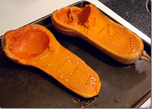 butternut squash out of oven