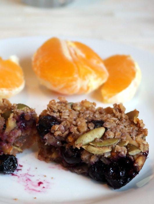 Blueberry Ginger Granola Muffins