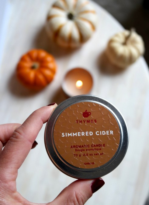 Thymes simmered cider candle thymes