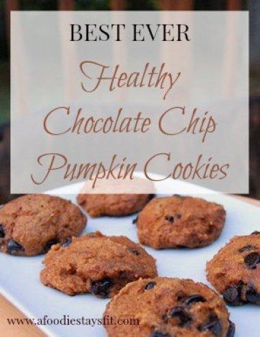healthy pumpkin chocolate chip cookie recipe