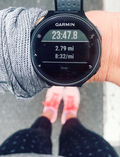 shakeout run before a marathon