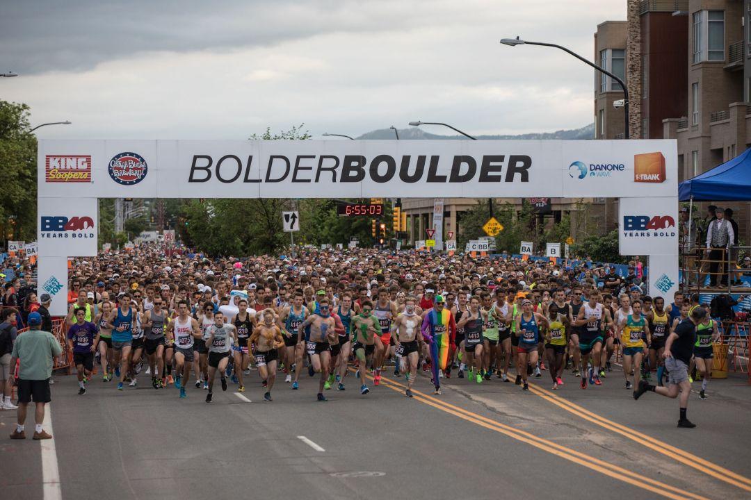 boulder bolder 10K race start