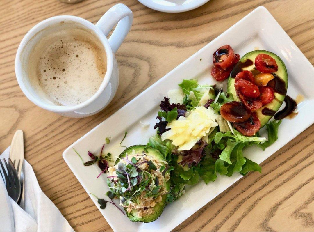 gourmandise heaping avocado brunch dish