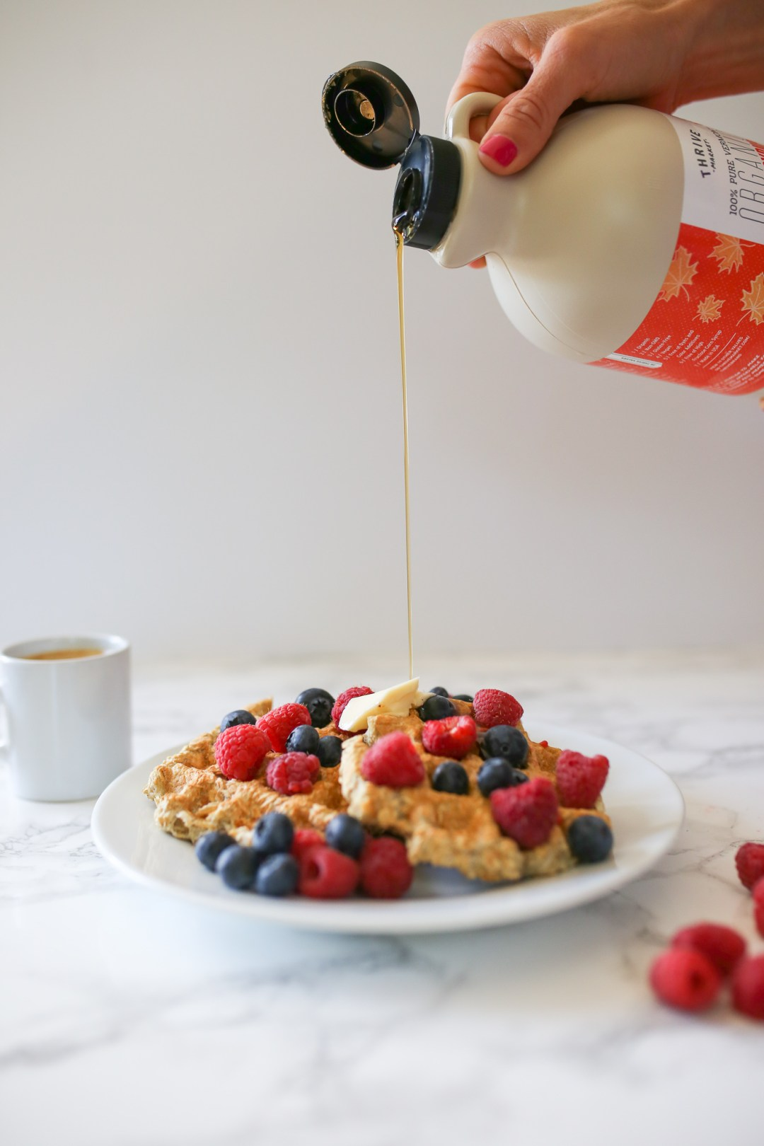 The BEST healthy waffle recipe