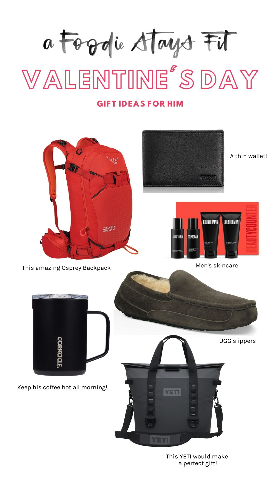 Valentines gifts for him, gift guide boyfriend husband