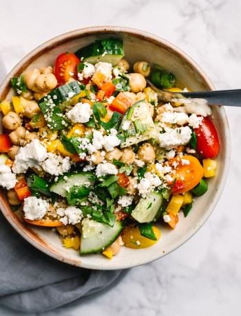 Rainbow chickpea salad