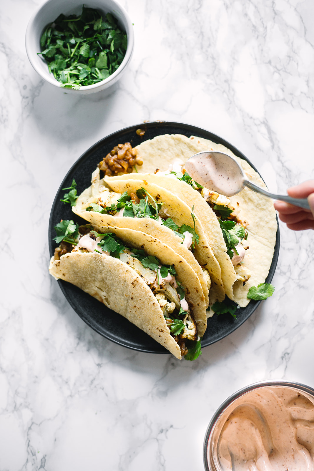 Cauliflower and Lentil Tacos