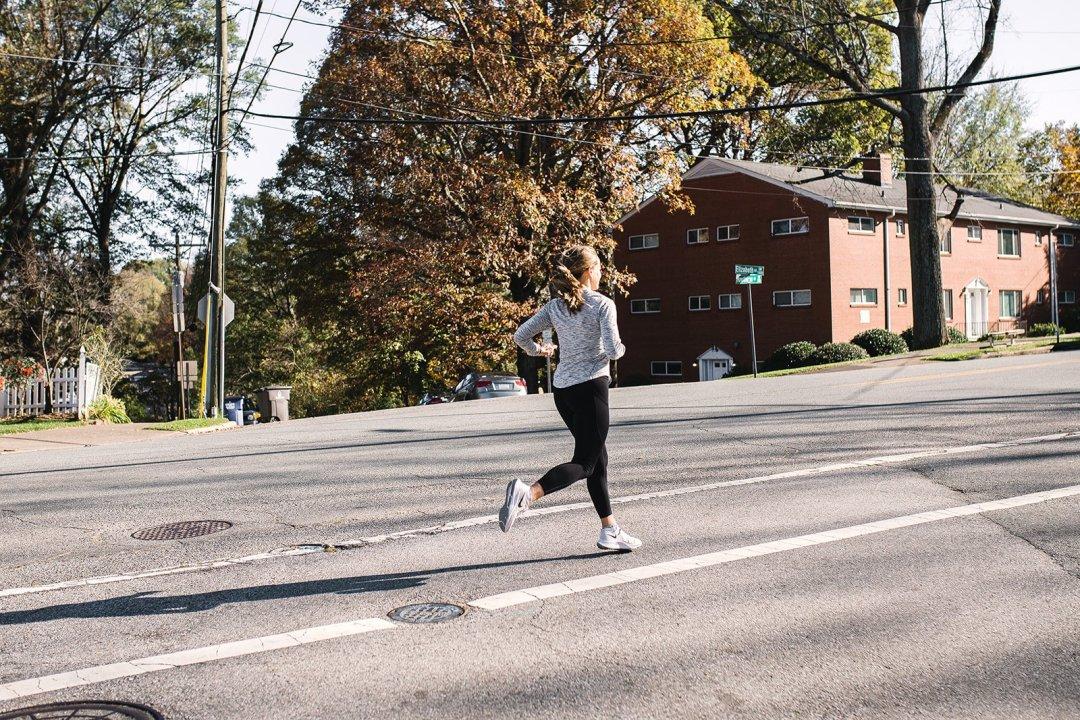 running and training