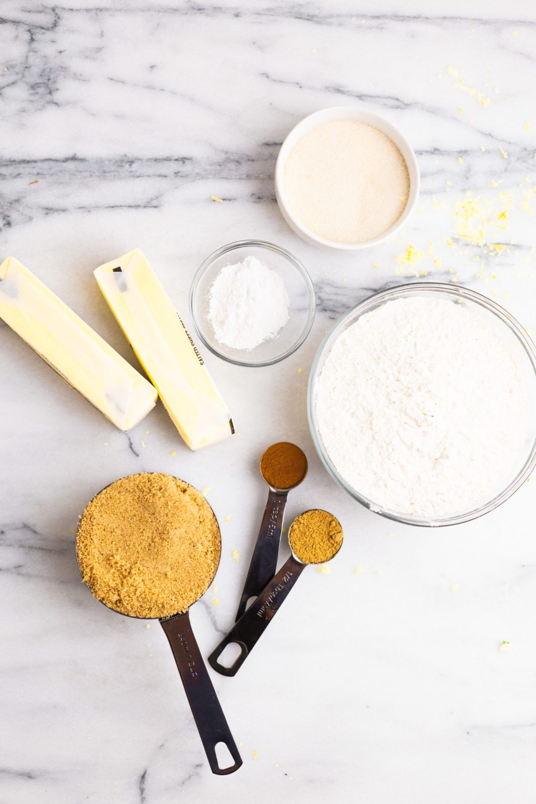 Ginger Lemon Cookie ingredients