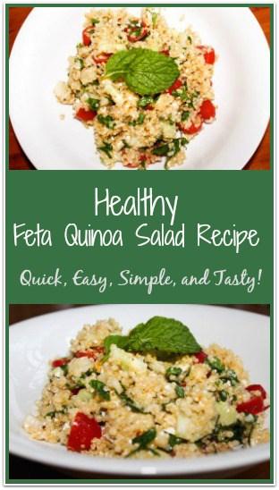 Healthy Feta Quinoa Salad Recipe