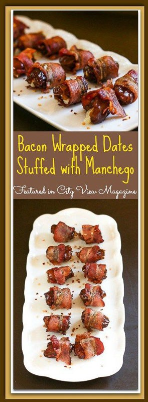 Everything tastes better with bacon, and dates are no exception. These sweet dates are stuffed with the rich, buttery Manchego cheese and then wrapped with salty, crispy bacon to create a perfectly delicious combination. Bacon Wrapped Dates Stuffed with Manchego make a perfect starter for any dinner entertaining.