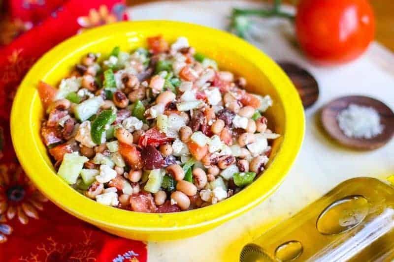 Greek Black Eyed Pea Salad-An Easy Greek Salad Recipe