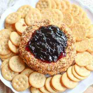 Cheddar Pecan Cheese Ring with Elderberry Jelly