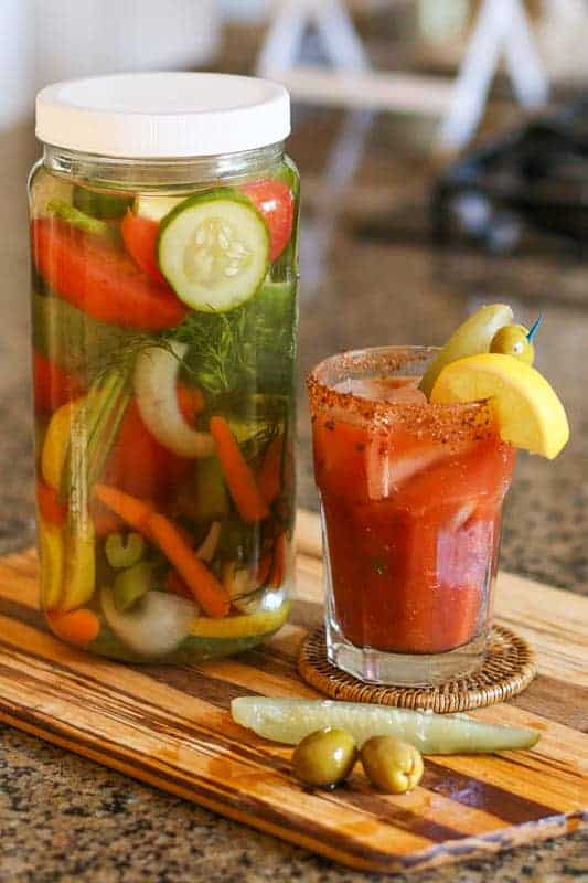 Vegetable infused vodka recipe for Bloody Mary