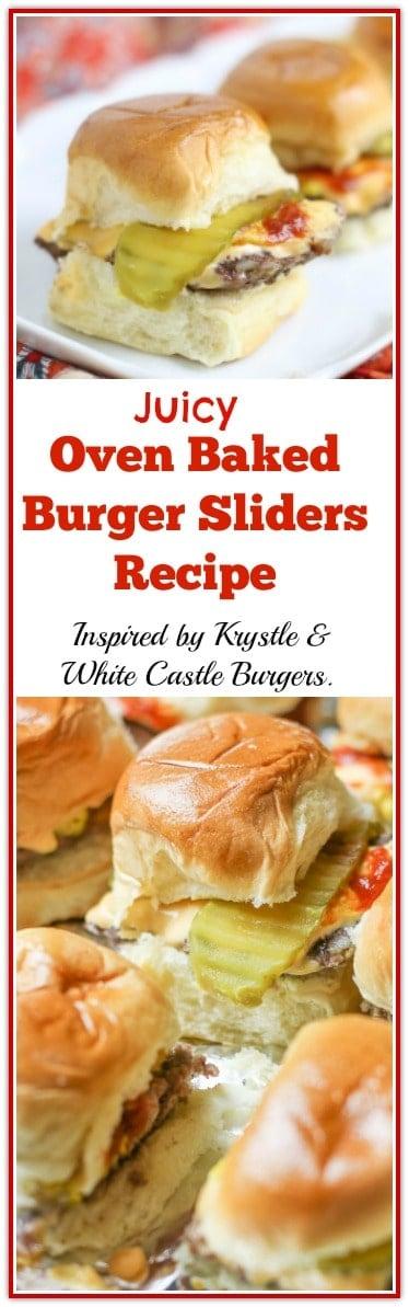 Juicy Oven Baked Burger Sliders Recipe