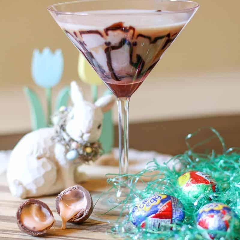 This Easy Cadbury Creme Egg Martini Recipe is a delicious tribute to one of the most popular iconic Easter Candies!