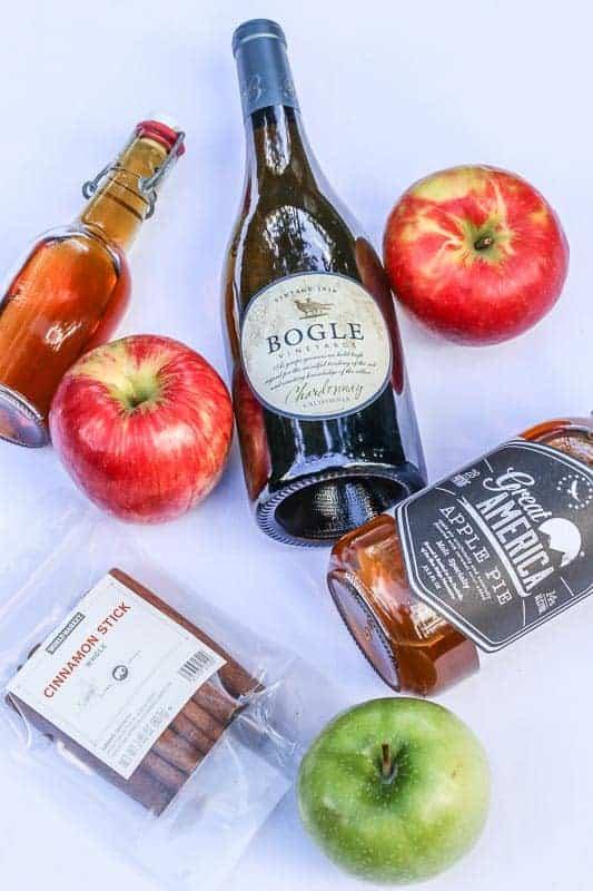 Apple Pie Sangria Ingredients #ad #worldmarkettribe #wmhalloween