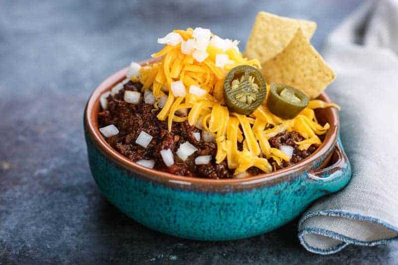 Bison Chili with Mexican Cinnamon from Urban Cowgirl