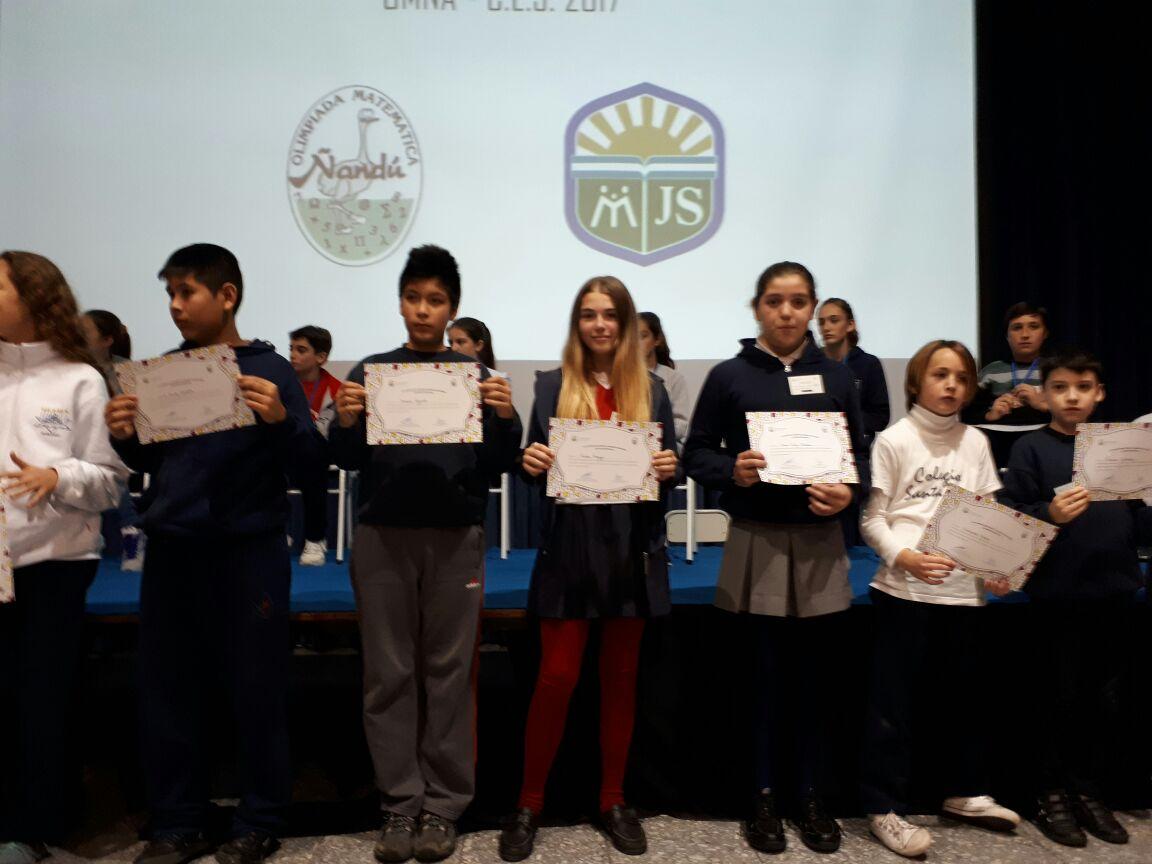 XXI Certamen Provincial de Olimpiadas Matemática Ñandu – Mención especial
