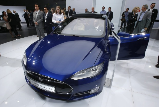 A Tesla Model S, the car model involved in the crash.