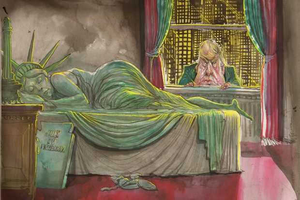 Image result for cartoons trump david rowe