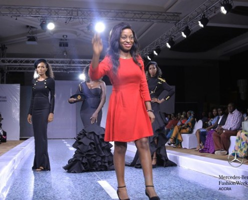 "Louisa Akua Dufie of ""Kylie Amaris"" at 2018 Mercedes Benz Fashion Week (Afra K Graduate Show)"