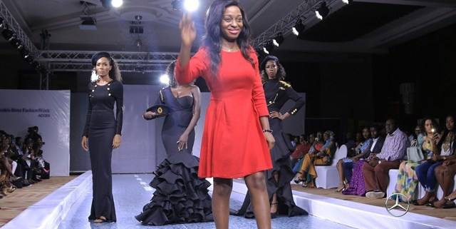 "Louisa Akua Dufie of ""Kylie Amaris"" at 2018 Mercedes Benz Fashion Week (Afra K Graduate Show)"
