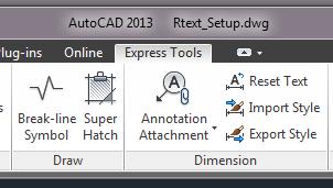 Express Tools tab