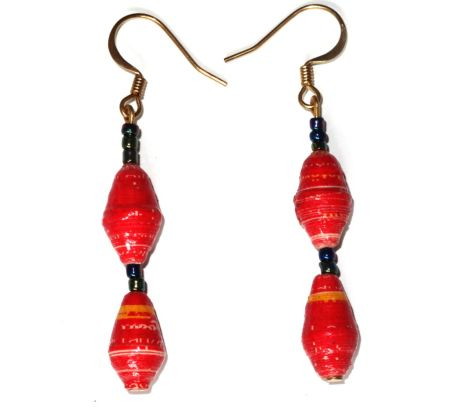 Handmade Bright Red Earrings