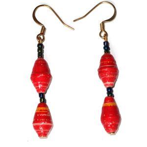 Handmade Bright Red Earrings ER 03
