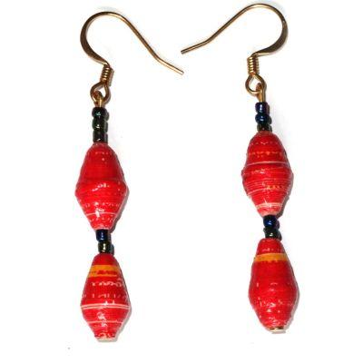 Handmade Bright Red Earrings