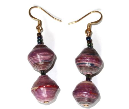 Handmade Mellow Purple Earrings