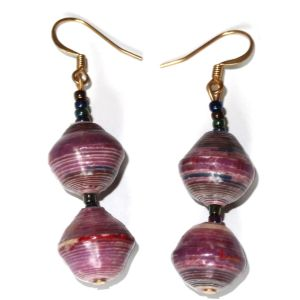 Handmade Mellow Purple Earrings