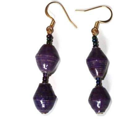 Handmade Rich Purple Earrings
