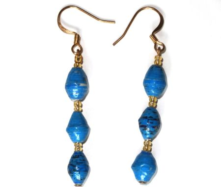 Handmade Essential Blue Earrings
